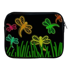 Neon Dragonflies Apple Ipad 2/3/4 Zipper Cases by Valentinaart
