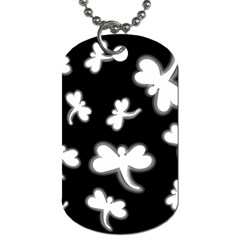 White Dragonflies Dog Tag (two Sides)