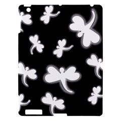 White Dragonflies Apple Ipad 3/4 Hardshell Case by Valentinaart