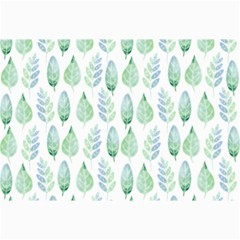 Green Watercolour Leaves Pattern Canvas 24  X 36  by TanyaDraws