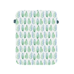 Green Watercolour Leaves Pattern Apple Ipad 2/3/4 Protective Soft Cases by TanyaDraws