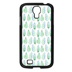 Green Watercolour Leaves Pattern Samsung Galaxy S4 I9500/ I9505 Case (black) by TanyaDraws