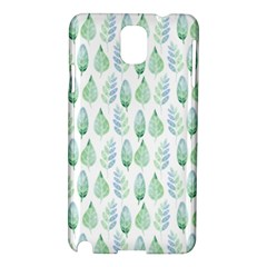 Green Watercolour Leaves Pattern Samsung Galaxy Note 3 N9005 Hardshell Case by TanyaDraws