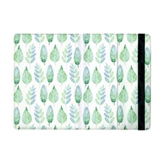Green Watercolour Leaves Pattern Ipad Mini 2 Flip Cases by TanyaDraws