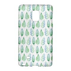 Green Watercolour Leaves Pattern Galaxy Note Edge by TanyaDraws