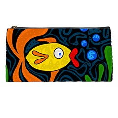 Yellow Fish Pencil Cases by Valentinaart