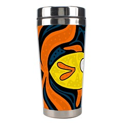 Yellow Fish Stainless Steel Travel Tumblers by Valentinaart