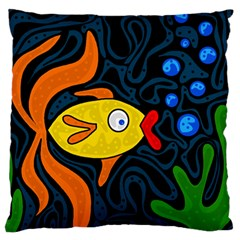Yellow Fish Standard Flano Cushion Case (one Side) by Valentinaart