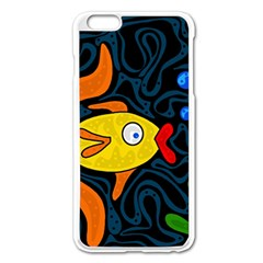 Yellow Fish Apple Iphone 6 Plus/6s Plus Enamel White Case