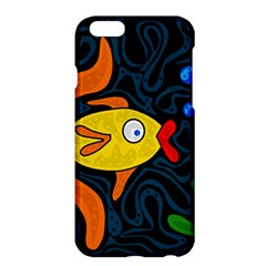 Yellow Fish Apple Iphone 6 Plus/6s Plus Hardshell Case by Valentinaart