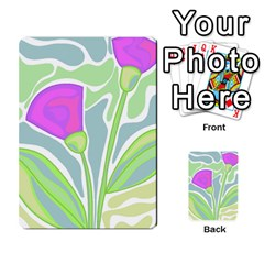 Purple Flowers Multi Purpose Cards (rectangle)  by Valentinaart