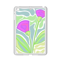 Purple Flowers Ipad Mini 2 Enamel Coated Cases by Valentinaart