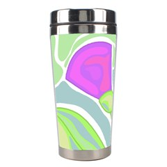 Purple Flowers Stainless Steel Travel Tumblers by Valentinaart