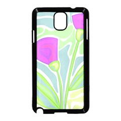 Purple Flowers Samsung Galaxy Note 3 Neo Hardshell Case (black) by Valentinaart