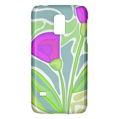 Purple Flowers Galaxy S5 Mini by Valentinaart