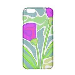 Purple Flowers Apple Iphone 6/6s Hardshell Case by Valentinaart