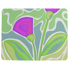 Purple Flowers Jigsaw Puzzle Photo Stand (rectangular) by Valentinaart