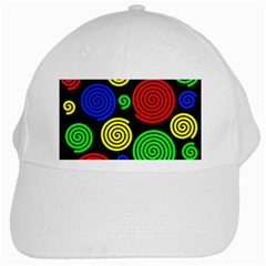 Colorful Hypnoses White Cap by Valentinaart