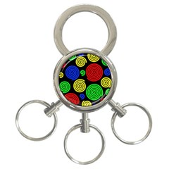 Colorful Hypnoses 3-ring Key Chains by Valentinaart