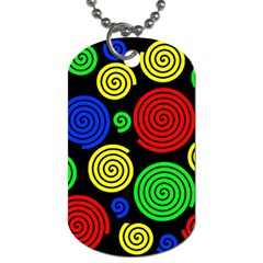 Colorful Hypnoses Dog Tag (one Side) by Valentinaart