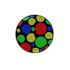 Colorful Hypnoses Hat Clip Ball Marker by Valentinaart