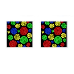 Colorful Hypnoses Cufflinks (square) by Valentinaart