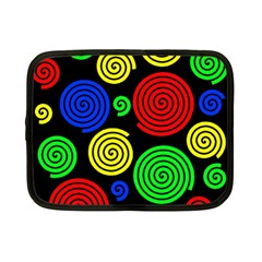 Colorful Hypnoses Netbook Case (small)  by Valentinaart