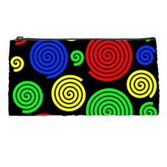 Colorful Hypnoses Pencil Cases by Valentinaart