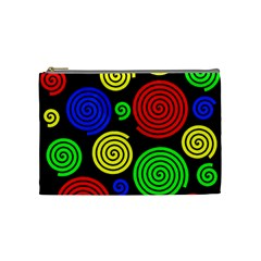 Colorful Hypnoses Cosmetic Bag (medium)  by Valentinaart