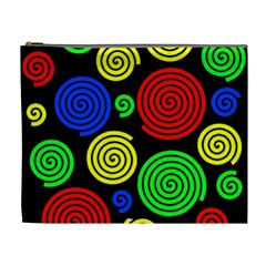 Colorful Hypnoses Cosmetic Bag (xl) by Valentinaart