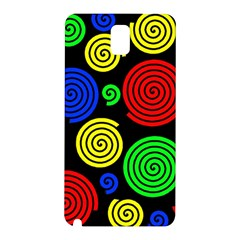 Colorful Hypnoses Samsung Galaxy Note 3 N9005 Hardshell Back Case by Valentinaart