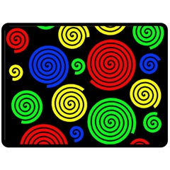 Colorful Hypnoses Double Sided Fleece Blanket (large)  by Valentinaart
