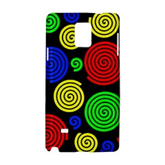 Colorful Hypnoses Samsung Galaxy Note 4 Hardshell Case by Valentinaart