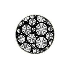 Black And White Hypnoses Hat Clip Ball Marker (10 Pack) by Valentinaart