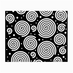 Black And White Hypnoses Small Glasses Cloth by Valentinaart