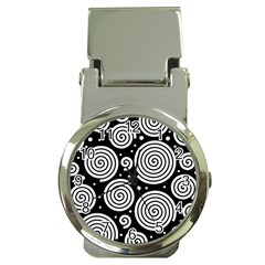 Black And White Hypnoses Money Clip Watches by Valentinaart