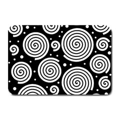 Black And White Hypnoses Plate Mats by Valentinaart