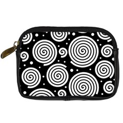 Black And White Hypnoses Digital Camera Cases by Valentinaart