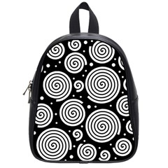 Black And White Hypnoses School Bags (small)