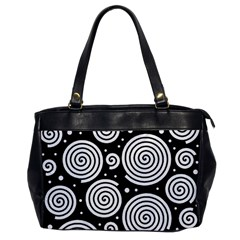 Black And White Hypnoses Office Handbags by Valentinaart