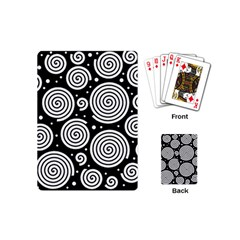 Black And White Hypnoses Playing Cards (mini)  by Valentinaart