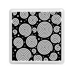 Black And White Hypnoses Memory Card Reader (square)  by Valentinaart