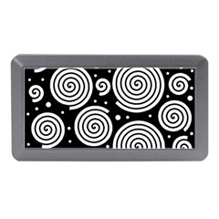 Black And White Hypnoses Memory Card Reader (mini) by Valentinaart