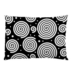Black And White Hypnoses Pillow Case (two Sides) by Valentinaart
