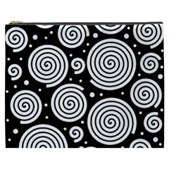 Black And White Hypnoses Cosmetic Bag (xxxl)  by Valentinaart