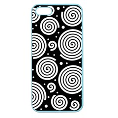 Black And White Hypnoses Apple Seamless Iphone 5 Case (color) by Valentinaart