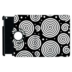 Black And White Hypnoses Apple Ipad 3/4 Flip 360 Case