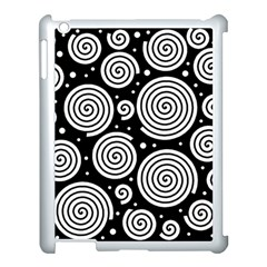 Black And White Hypnoses Apple Ipad 3/4 Case (white) by Valentinaart
