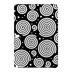 Black And White Hypnoses Samsung Galaxy Tab Pro 10 1 Hardshell Case by Valentinaart