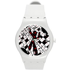 On The Dance Floor  Round Plastic Sport Watch (m) by Valentinaart